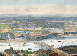 Panorama of London and the River Thames: 19th century
