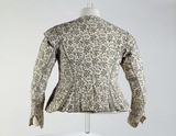 Woman's close-fitting long sleeved jacket, back view: 17th century