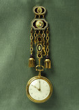Gold chatelaine and case watch: 18th century