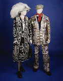 Pearly Queen and King emsemble, front view: 20th century
