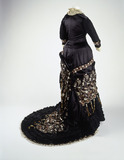 Princess line dress, back view: 19th century