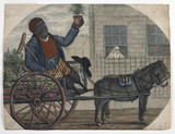 Disabled black man sells potted plants: 19th century