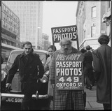 Sandwich-board advertising man: 20th century