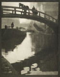 The bridge over Regent's Canal at Camden Lock: c.1900-1909