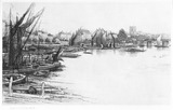 Chelsea from Cremorne Wharf: 19th century