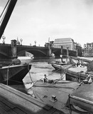 Barges by Southwark Bridge: 20th century