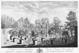 A Prospect of Lord Burlington's Oringe [sic] tree Garden at Chiswick: 18th century