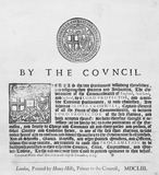 Manuscript declaration of Oliver Cromwell: 1653