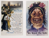 Two anti-women's suffrage postcards: c.1910