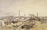 The construction of the Victoria Embankment: 1865