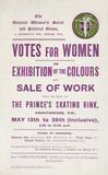 Notice for the Exhibition and Sale of Work: 1909