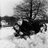 Children playing in the snow: 20th century