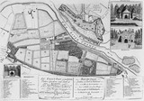 Plan of Richmond, Kew and Sion (Syon) House: 1754