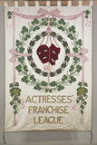 Suffrage banner of the Actresses' Franchise League: c. 1911