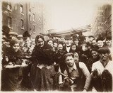 Market traders and locals in Middlesex Street: 1899