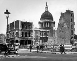 Bomb damage close to St Paul's Cathedral: 1942