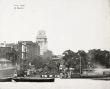 Thames Riverscape showing Tower Dock and Stairs: 1937