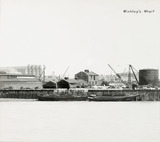 Thames Riverscape showing Winkley's Wharf; 1937