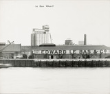 Thames Riverscape showing Le Bas Wharf; 1937