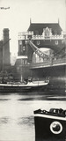 Thames Riverscape showing Tower Bridge: 1937