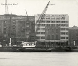 Thames Riverscape showing Chamberlains Wharf and Offices: 1937