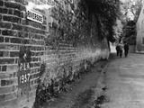 PLA Flood Marking on a wall near Twickenham: 1957