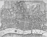Map of London: 1676