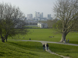 View from Greenwich Park to Canary Wharf