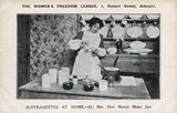 Mrs How Martyn Making Jam, propaganda postcard; 1910