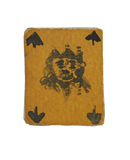 Card from a set of playing cards made in Holloway Gaol by the suffragette prisoner Mrs Kitty Marshall: c.1911
