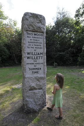 William Willet memorial; 2009