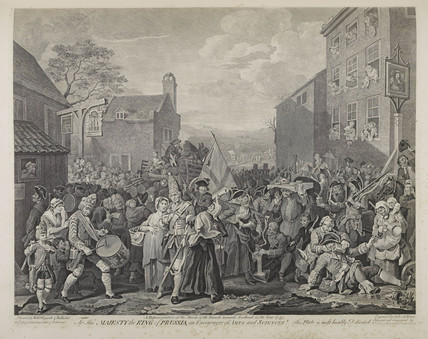 The march to Finchley; 1799