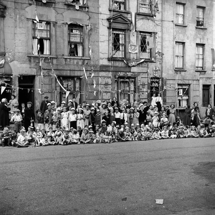 Street Party to celebrate the Coronation of Queen Elizabeth II: 1953