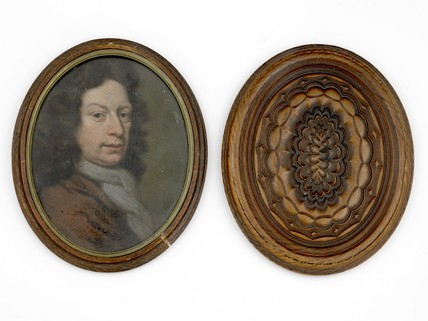Oval miniature portrait of a Stuart gentleman: c. 1780-1825