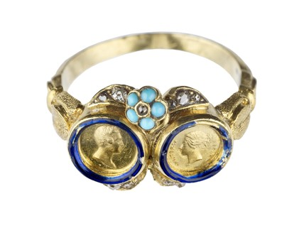 Commemorative gold finger ring: c.1840