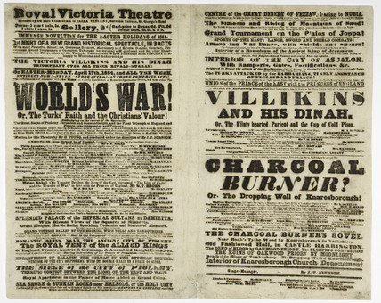 Poster for the Royal Victoria Theatre; 1854