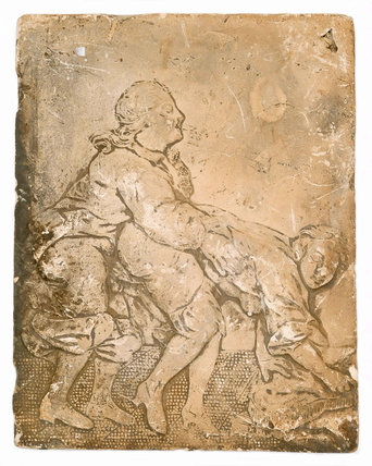 An erotic relief tile: c. 1714-1837