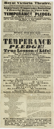 Poster for the Royal Victoria Theatre; 1844
