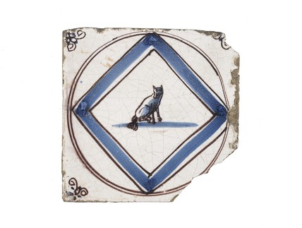 Tin-glazed earthenware tile: c. 1701-1801