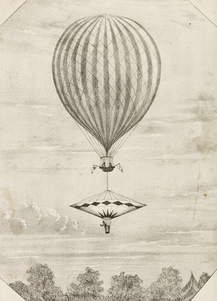 The Nassau Balloon and parachute; 1836-1845