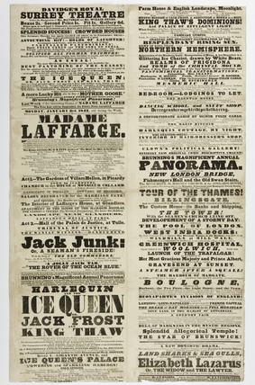 A poster advertising Davidge's Royal Surrey Theatre; 1842
