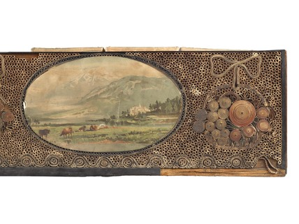 A rectangular wooden decorated dressing case: 1781-1820