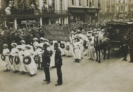 The funeral of Emily Wilding Davison: 1913