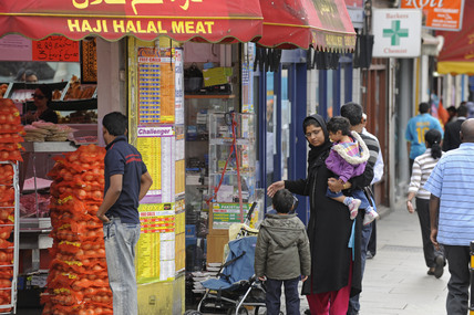 Halal meat shop in Tooting; 2009