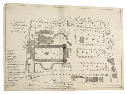 Positions of the police and security forces at the Vittoria Fete: c.1830