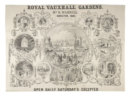Poster for The Royal Gardens, Vauxhall: 1852