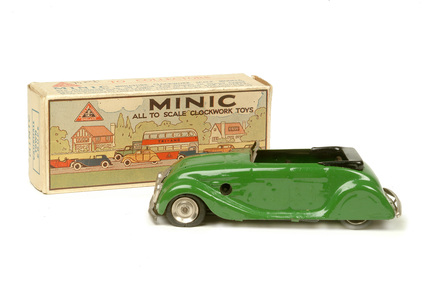 Green toy car; post 1945