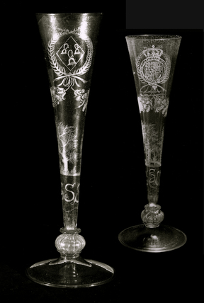 Two views of the 'Chesterfield' flute: c.1650