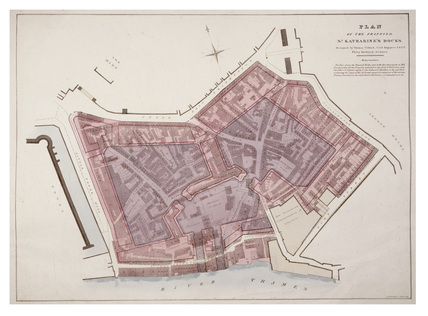 Plan of the proposed St. Katharine's Docks: c.1825