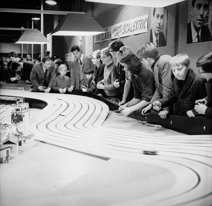 Scalextric demonstration: 1960